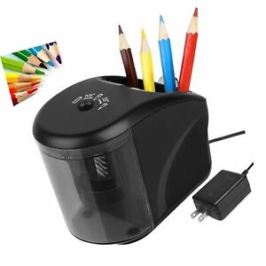 Electric Pencil Sharpener Power Adapter include battery Operated Pencil Sha