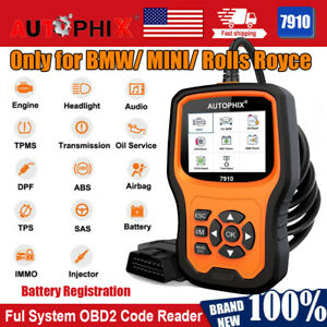 For Bmw All System Obd2 Scan Diagnostic Tool Abs Epb Battery Check Code Reader