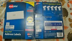 2 X New Avery 5160 Laser 1 X 25 8 3000 X 2 6000 Address Labels Priority S
