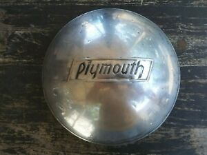 Vintage 1935 1936 Plymouth Dog Dish Hubcap Restore