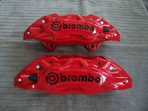 2015 20 Mustang Gt New Front L R 4 Piston High Performance Powdercoated Calipers