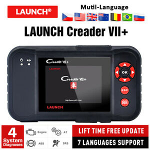 Launch X431 Creader Vii Car Diagnostic Tool Obd2 Auto Scan Engine Eng Abs Srs