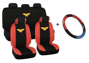 Wonder Woman Car Seat Covers And Steering Wheel Cover Gift Set Universal Fit