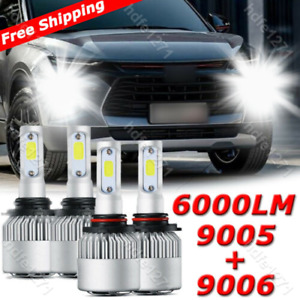 4pc Led Headlight Bulb For Chevy C K Pickup Silverado Suburban Tahoe 1994 1998
