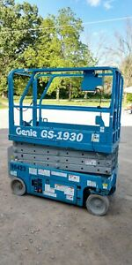 Genie Gs1930 19 Electric Scissor Lift Aerial Manlift Platform 24v