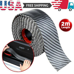 2m Accessories Carbon Fiber Car Door Plate Sill Scuff Cover Anti Scratch Sticker