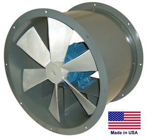 Tube Axial Duct Fan Direct Drive 34 1 5 Hp 230 460v 3 Phase 13 350