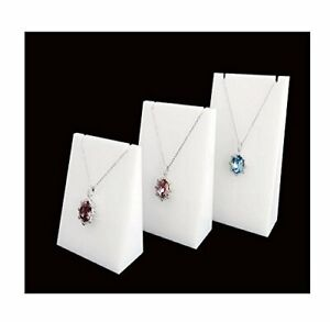 Svea Display Modern White Acrylic Jewelry Display Stands For Shows 3pc Blocks
