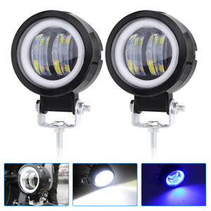 2x Led Work Light Flood Spot Pods Driving Fog Lamps Halo Off Road Truck 4wd Atv