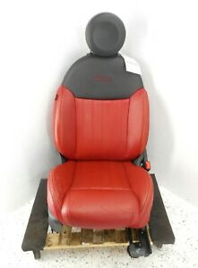 12 17 Fiat 500 Lounge 2 Door Front Passenger Right Seat Oem Leather Black Red