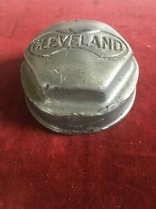 Vintage Metal Cleveland Automobile Threaded Wheel Center Grease Cap Hub Cap