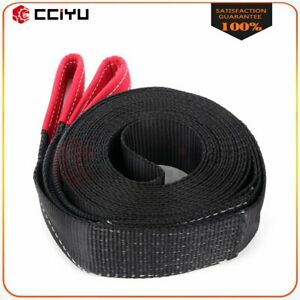 3 30ft 14000 Lbs Tow Strap Winch Snatch Off Road Vehicle Recovery Flat Loop