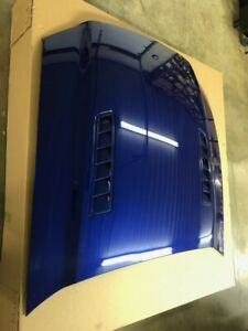 Oem Ford 2013 2014 Mustang Gt Hood New Take off W Quilt Deep Impact Blue Nos