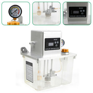 Used 4l Lubrication Pump Cnc Digital Electronic Timer Lcd Automatic Oiler 25w Us