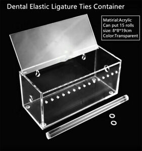 Dental Orthodontic Elastic Ligature Ties Acrylic Dispenser Power Chain Container