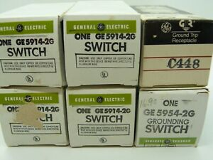 Vintage General Electric Toggle Grounding Switch Ge5914 2g Ge5954 2g Nos Lot