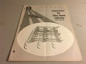 Ih Operators Manual International 45 Vibra Shank Cultivator Direct Connected