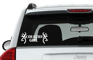 Country Girl With Deer Heads Vinyl Decal Sticker Jdm Car Truck Laptop