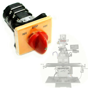 1x Milling Machine Part Forward Reverse 3 Phase Motor Mill Switch For Bridgeport