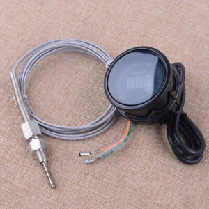 2 52mm Led Digital Exhaust Gas Temperature Egt Temp Gauge Meter Sensor Monitor