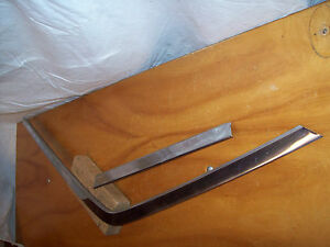 63 Ford Galaxie 500 Right Rear Back Door Glass Window Frame Surround Moldings