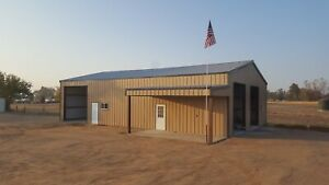 40x60x14 Steel Building Simpson Garage With Partial Lean to As Shown In Picture