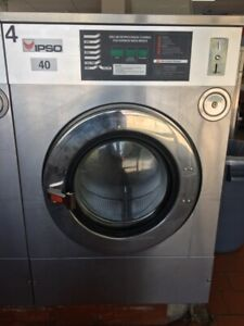Ipso 40lb Commercial Washing Machine Coin Front Load 220v 1ph
