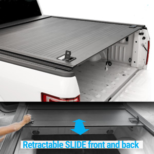 10 20 F 150 5 5ft Truck Bed Lock Retractable Roll Up Hard Tonneau Outdoor Cover