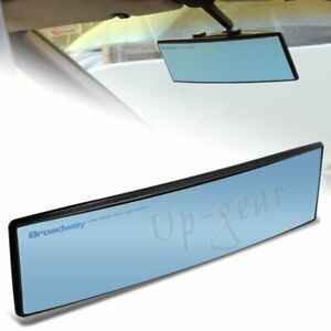 Universal Broadway Convex Interior Clip On Rear View Blue Tint Mirror 270mm