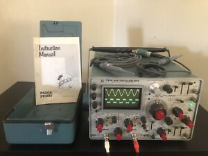 Tektronix 454 Type 454 Oscilloscope 150mhz With Probes Manual Cover Working