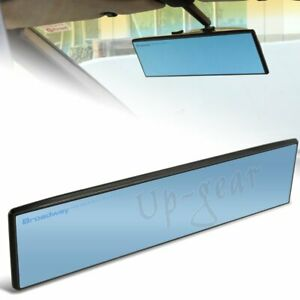 Universal Broadway Flat Interior Clip On Rear View Blue Tint Mirror 300mm Wide