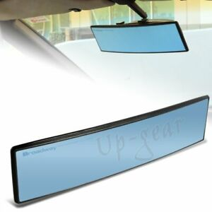 Universal Broadway Convex Interior Clip On Rear View Blue Tint Mirror 300mm Wide