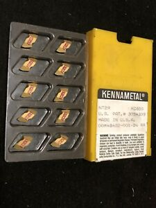 Qty 10 Kennametal Nt2r Kc850 Top Notch Coated Carbide Inserts 60 V Threading