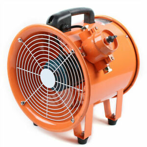 Ex Rated Fan Noise 69db 2800rpm 12 Inches 370w Explosion proof Motor 450pa