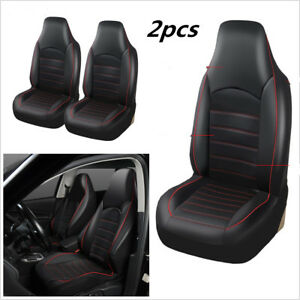 Car Covers Seat Bucket Protector Universal Synthetic Leather Front 2 Seat