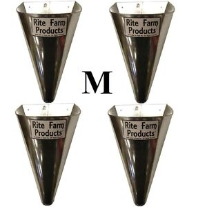 4 Pack medium Restraining Killing Kill Processing Cone For Poultry Chicken Foul