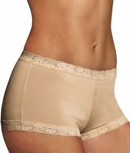Maidenform Low Rise Lace Trim Latte Lift Boyshort Size 9 2xl