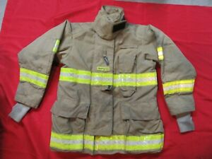 Quaker Gear Bunker Jacket Coat 42 X 35 Firefighter Turnout Fdny Fire Towing