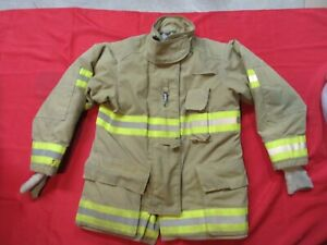 Quaker Drd Gear Bunker Jacket Coat 42 X 32 Firefighter Turnout Fdny Fire Towing
