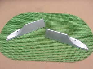 1966 1967 Dodge Charger New Reproduction Aluminum Rear Spoiler End Tips Pair