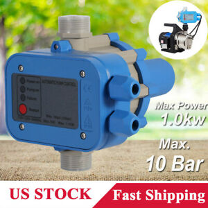 110v Water Pump Automatic Pressure Controller Electronic On off Switch 10 Bar