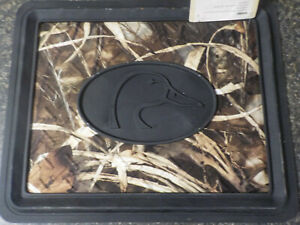 2x Ducks Unlimited Camo Rear Floor Mat Auto Car Truck Realtree Max 4