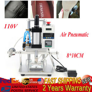 110v Digital Hot Foil Stamping Machine Air Pneumatic Logo Leather Pvc Press