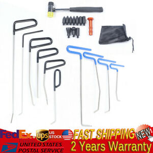 Usa 22x Tools Push Rods Spring Steel Kit Paintless Dent Repair Hail Removal Tool