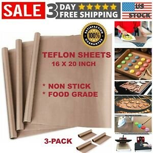 3 Pcs Teflon Transfer Sheets For Heat Press Ptfe Non Stick Reusable Craft Paper