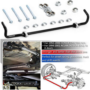 24mm Solid Rear Sway Bar Stabilizer Kit End Link For Honda Civic Acura Integra