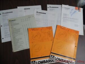 1978 80 Lombardini Air Cooled Diesel Engine Dealer Catalog Brochure Lot Vintage