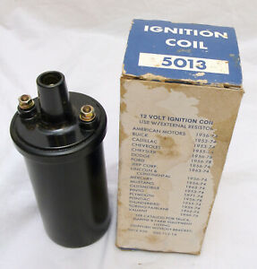 12v Ignition Coil 5013 500 112 1a 1950 s 1970 s Gm Ford Jeep Amc Vintage