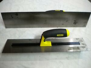 Concrete Finishing Trowels Stanley Pro Series Comfort Grip 4 x16 And 4 x18