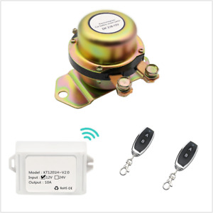 Cordless Remote Control Disconnect Latching Relay Car Battery Switch 12v 24v